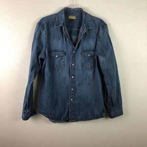 Sonoma Western Denim Shirt M